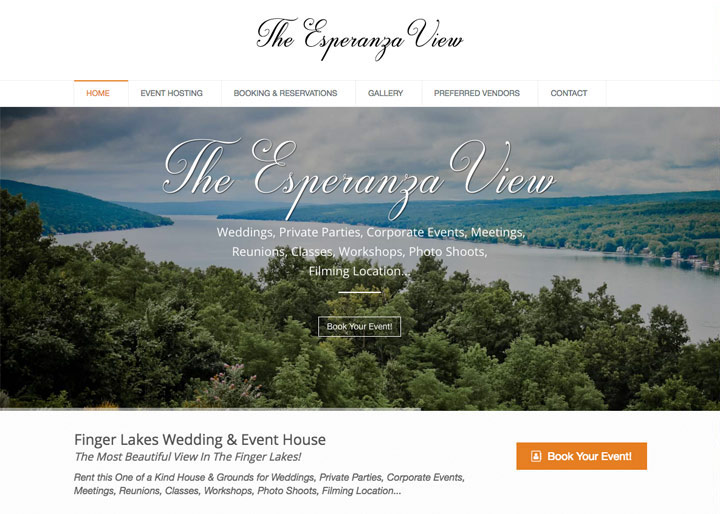 The Esperanza View, Website Design